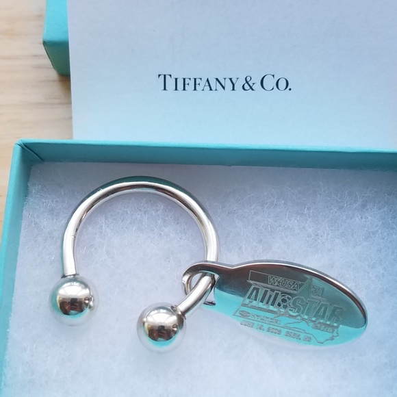 Tiffany & Co. Jewelry - Tiffany & Co Silver 925 WUSA All Star Key Ring